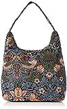 Signare Modische Landstreicher Schultertasche aus Tapisserie Stil Erdbeerdieb Blau