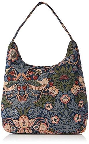 Signare besace sac d'épaule tapisserie mode femme Fraise voleur bleu