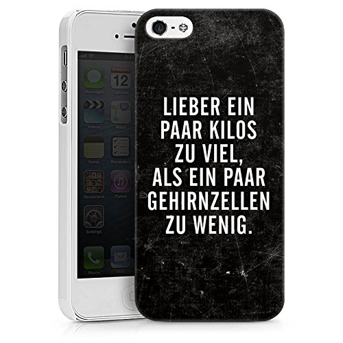Apple iPhone X Silikon Hülle Case Schutzhülle Gewicht Humor Sprüche Hard Case weiß