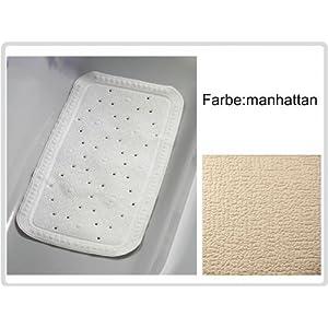 Badematte Badewannen-Einlage, Farbe: manhattan – Antirutsch-Einlage Sicherheitseinlage