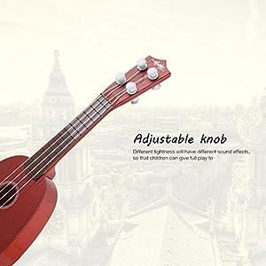 Kingtoys - Chitarra per bambini mini ukulele a 4 corde, strumenti musicali giocattolo, educativo, 2 – 5 anni
