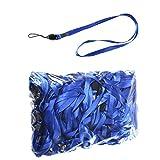 50 Stück Blaues Halsband LB001 ideal für Namensschilder und als Ausweishalter