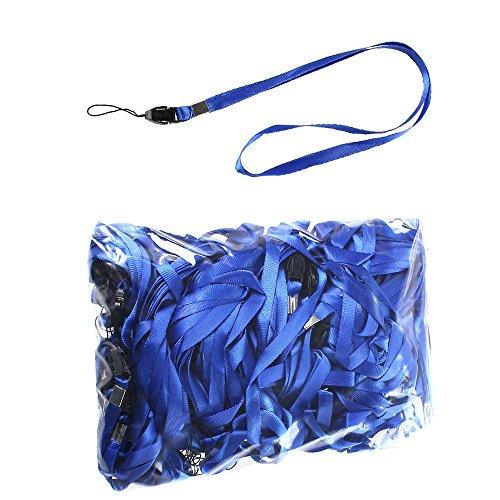50 Pezzi Blu Lanyard per Portabadge LB001