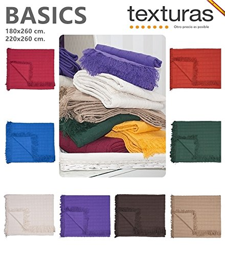 Texturas Basics - Colcha Multiusos Lisa Cama Y SOFÁ Económica (180_x_260_cm, Fucsia)