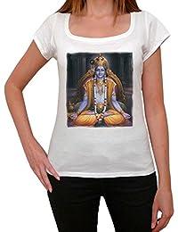 Krishna T-shirt Femme,Blanc, t shirt femme,cadeau