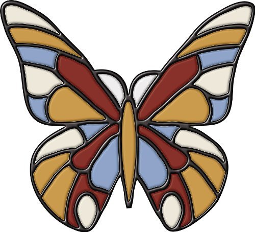 Brewster 99473 Peel & Stick Butterfly Stained Glass Appliqu? by Brewster