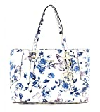 GUESS Isabeau E / W Tote Ivory / Blue