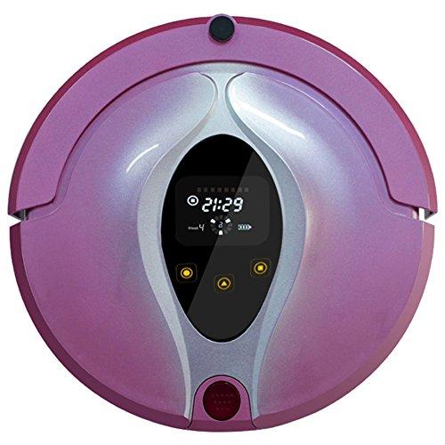 MIAO@LONG Robot Aspirador Casa Limpiador Autocargador & Sensor De Caída Para Pelo De Mascota Escombros Y Suciedad Diseñado Púrpura