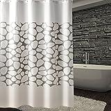liuhoueDuschvorhänge Bad vorhang Water curtain Badezimmer schatten jalousien-G 180x200cm(71x79inch)