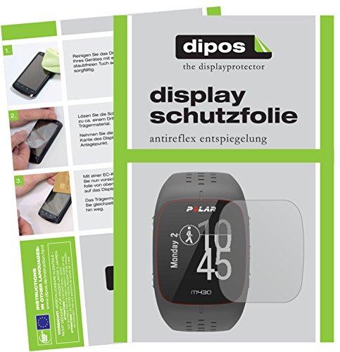 dipos I 6X Schutzfolie matt passend für Polar M430 Folie Bildschirmschutzfolie