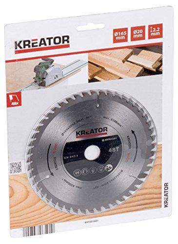 Kreator KRT021601 Lame de scie circulaire Ø160mm 48 dents - convient pour le bois