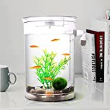 Bayrick auto pulizia acquario mini Fun Fish Tank kit + luce LED Gravity Clean