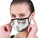 Sketch Farm Market Card Meat Food and Drink Dustproof Washable Reusable Mouth Cover Mask Respirator Germ Protective Safety Warm Windproof Mask