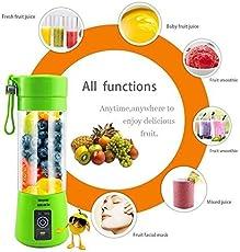 Petrice Mini Personal Charge Pattern Juicer Smoothie Blender Fruit Vegetable Juicer Blender Smoothie Shake N Take(Colour May Vary)