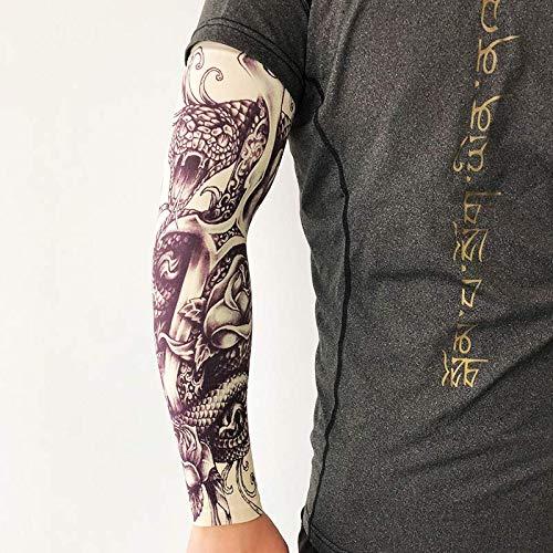 JinRui-Sport Tattoo Sleeve Tattoo Sleeve Sonnenschutz Arm Flower Arm Sleeve, M, YD-203 Cobra 2 Packungen
