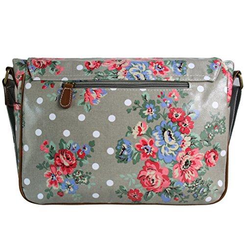 Miss Lulu, Borsa a tracolla donna Taglia unica Flower Bag Grey