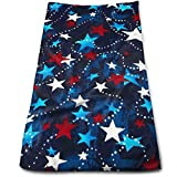 vintage cap Made in The USA Stars Red White Blue Kitchen Towels - Dish Cloth - Machine Washable Cotton Kitchen Dishcloths,Dish Towel & Tea Towels for Drying,Cleaning,Cooking,Baking (12 X 27.5 Inch)