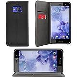 iProtect HTC U Play Tasche im Bookstyle mit integriertem Magnetverschluss in Schwarz