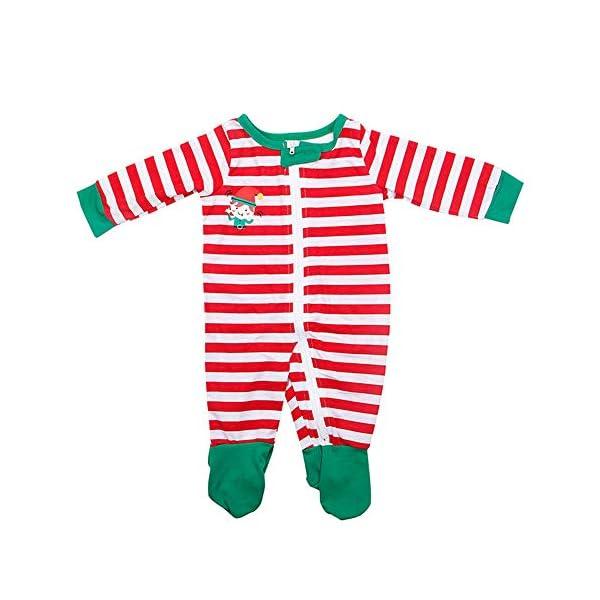 YOFASEN Pijamas Navideños Familiares - Ropa de Dormir para Mujeres Hombres Bebé Niño Invierno Algodón Pijamas Dos Piezas… 2