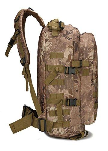 Fortuning's JDS Sport Militär molle Tactical Rucksack gelbe python