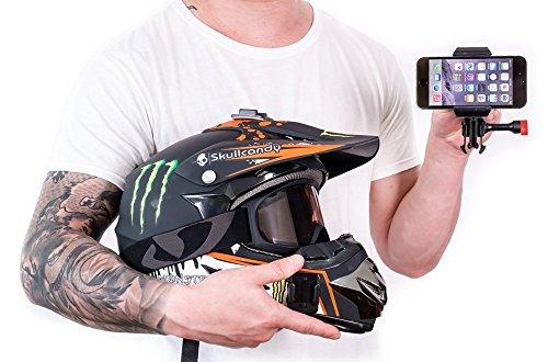 Velocity Clip Motorrad-Telefon-Halterung, stark haftend, für Helme, Armaturenbretter, Seitenteile und mehr -