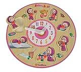 Eichhorn 109304084 - Mascha und der Bär Lernuhr Puzzle mit 7 Steckteilen