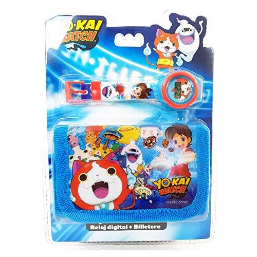 Yo-Kai Watch Kids - Juego de Reloj Digital y Cartera (25 cm),...