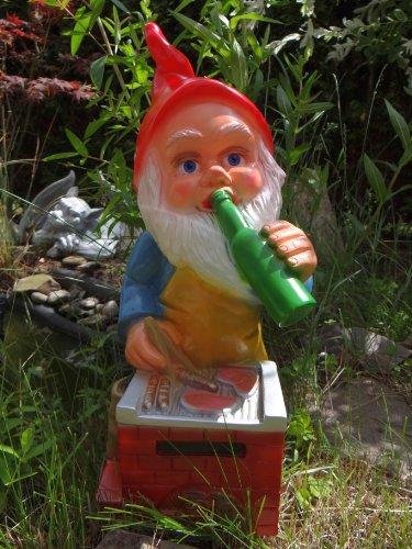 Gartenzwerg Grillmeister aus bruchfestem PVC Zwerg Made in Germany Figur - 2