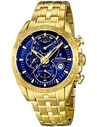 Festina Herren-Armbanduhr XL Chronograph Quarz Edelstahl beschichtet F16656/3
