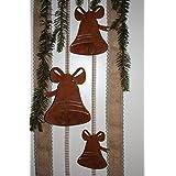 Weihnachtsanhänger Deko Glocke - Verschönern Sie Ihre Weihnachtsdeko mit Edelrost von Rostikal größe Set
