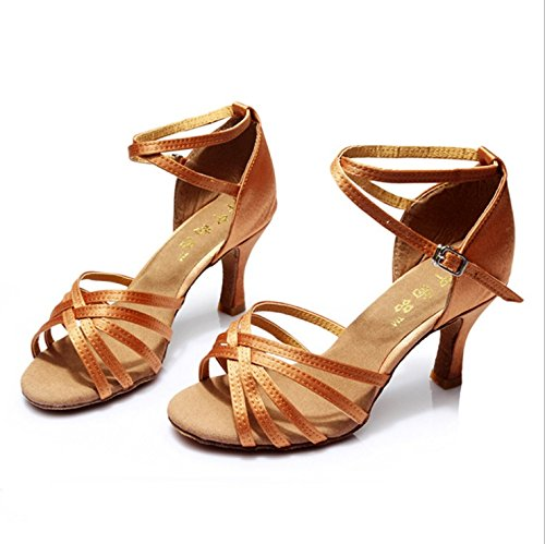 TMKOO& Adultes chaussures de danse latine chaussures femmes nouvelles chaussures de danse de salon latino des femmes pour les femmes ( Color : Marron , Taille : 40 ) Marron