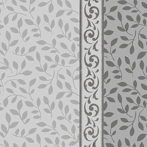 Decor-Elegante tovagliolo 33x33 cm Everleaves Silver 3 pieghe.