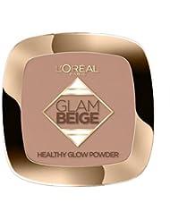 L'Oréal Paris Make Up Designer Glam Beige Poudre de Teint Effet Bonne Mine Peau Claire à Médium 30 ml