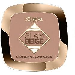 L'Oréal Paris Glam Beige Poudre de Teint Effet Bonne Mine Peau Claire à Médium 9g