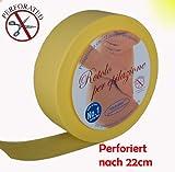Vliesrolle Farbe Gelb vor Perforiert 85mtr für die Enthaarung mit Warmwachs oder Zuckerwachs