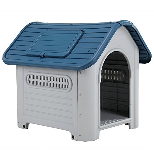 Pet Weatherproof Tough Large Plastic Dog /Puppy Kennel with Vents