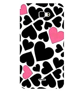 For Coolpad F1 8297W many heart ( many heart, black heart, pink heart, heart pattern ) Printed Designer Back Case Cover By CHAPLOOS