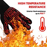 Oven Gloves Heat Resistant Cooking Gloves for BBQ,Cooking,Baking,Welding or Handling Super Hot Items