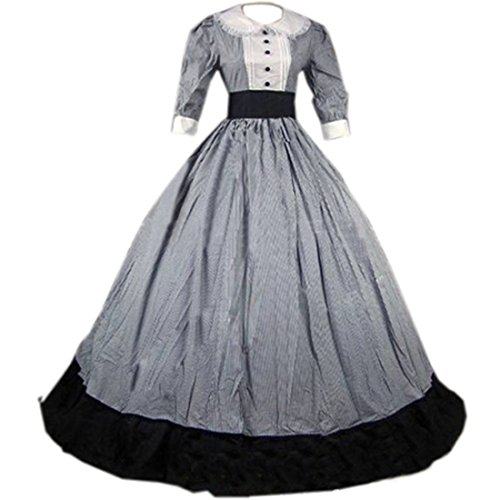 Partiss Damen Vintage Mittelalterlich Bodenlangen Gothic Viktorianisch Ballkleid Kleid Kostuem,S,As...