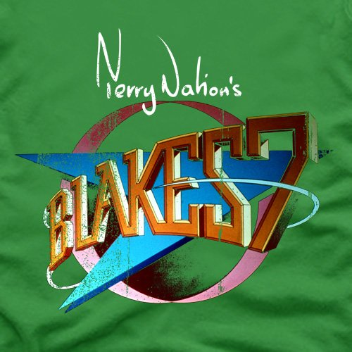Official Blake's 7 T-Shirt - Retro Logo, Herren Schwarz