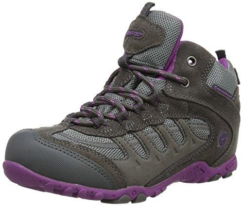Hi-Tec - Windermere Mid Waterproof Jrg, Stivali Bambina Charcoal/Purple