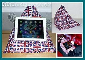 Multi Union Jack pour ordinateur portable–coussin–pour iPad Mini Tablette Kindle liseuse Galaxy–Lap Bean Sacs