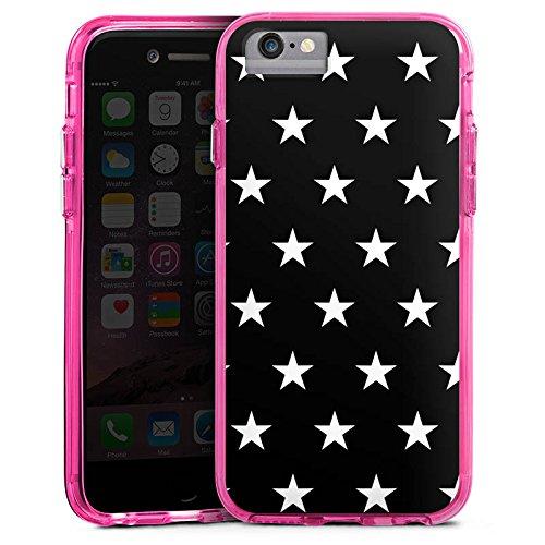 Apple iPhone X Bumper Hülle Bumper Case Glitzer Hülle Sternchen Muster Pattern Bumper Case transparent pink
