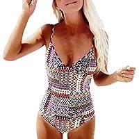 SHOBDW Mujer de una pieza de traje de baño push-up bra de impresión baño bañador traje