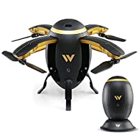 Hongfei W5 Egg-type Football Mini Folding Drone, Air Pressure is Set High,Speed Regulation,One Key Start and Stop,Trajectory Flight,Lock Heading Drone for Beginners