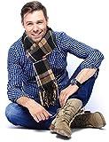 b5540f693557 Jorlyen Echarpe Homme - Plus Douce que le Cachemire Wool Touch - Echarpe  Tartan Homme Femme
