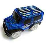 Jouets pour enfants Noël Cadeau 1Pc enfants LED jouet de voiture électrique pour Glow Tracks Shining dans le Dark Incroyable Racetrack Race Car (pas inclure les pistes)