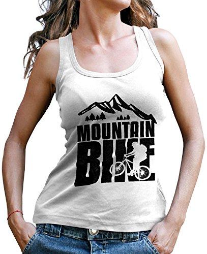 Stylotex Damen Tank Top Mountain Bike black Sport T-Shirt Fitness Ladies, Farbe:weiss;Größe:L (Tank Mountain-girl Top)