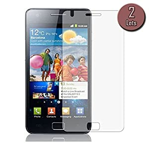 Displayschutzfolie für Samsung Galaxy S2(schützt Display SII). 2Stück