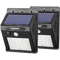 ledowp 20LED sensore di movimento a energia solare, wireless 3modalità intelligenti per lampada da parete per esterni giardino Patio Deck Yard casa Driveway Scale con funzione automatica On/Off (Confezione da